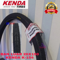 BAN LUAR SEPEDA 26 X 150 1.50 KENDA 40 - 559 26X150 26X1.50 ORIGINAL