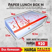 Paper Lunch Box M (Uk Atas 18x11x5) FOODGRADE TANPA LAMINATING 1 warna