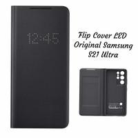 Original Samsung S21 Ultra Flip Cover LED Original Samsung - Black