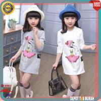 Baju Dress Kids Import Anak Perempuan Cewek Wanita Import 5 6 7 Tahun
