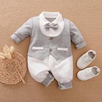 Jumper bayi tuxedo bayi abu-abu 0-2 tahun baju bayi import premium