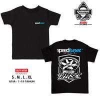 Kaos Baju Anak Racing Speedtuner Offset Kaos Otomotif - Karimake - V1 - Hitam, XS