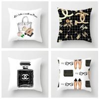 Set 4 Velvet Pillow Cushion Cover/Sarung bantal sofa shabby minimalis