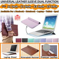 Sleeve Sarung Laptop Acer Asus Dell Macbook 11 12 13 14 15 Inch Inci - 11-12 INCH, Cokelat