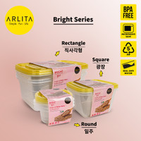 ARLITA BRIGHT SERIES |PLASTIC CONTAINER SQUARE
