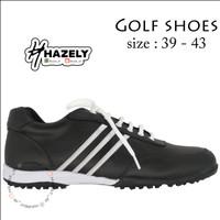 Sepatu Golf Ringan Anti Slip / Tahan Air Bahan Kulit Asli Untuk Pria