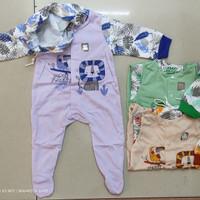 Baju jumper bayi topi tutup kaki/Over all panjang/SNI/