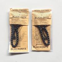 Gelang Tasbih Batu Alam Asli Black Onyx | Gelang Kesehatan