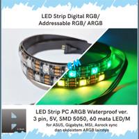 LED Strip PC Addressable RGB 3 pin ARGB 5V Gaming ASUS GIGABYTE MSI 60