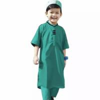 baju koko anak laki laki 1-5tahun baju muslim pria gamis koko turki
