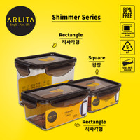 ARLITA SHIMMER SERIES |PLASTIC CONTAINER RECTANGLE