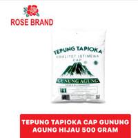 Tepung Tapioka Kanji Gunung Agung Hijau 500 gr 500gr Rose Brand