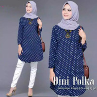 Tunik Wanita Model Terbaru / Baju Muslim / Fashion Wanita / Dini Tunik