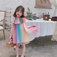 Dress Anak Perempuan Gaun Pesta Cantik THE UMBRE RAINBOW Import