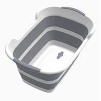 Kolam Bak Mandi Bayi Lipat 60 x 40cm BATHE PROJECT ZD009 - Gray
