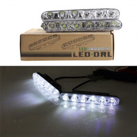 Lampu LED DRL FORTUNER 6 titik ISI 2PC Terang grill mobil sorot bumper