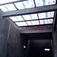 kanopi baja ringan dengan atap solar tuff