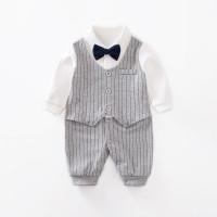 Jumper bayi tuxedo bayi abu-abu 0-2 tahun baju bayi lucu import