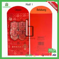 Kertas Amplop Angpao Angpau Hongbao Wedding Sangjit Nikahan Shxuang Xi - Angpao Motif 1