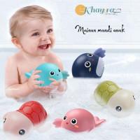 Mainan Mandi Anak Bayi Bentuk Kura Kura Berenang Di Bak Mandi