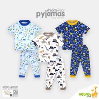 Piyama Velvet Junior Lengan Pendek Celana Panjang 2 - 10 Tahun BOY