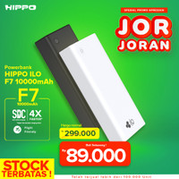 Hippo Power Bank Ilo F7 10000 mAh Smart Detect Charging FREE Pouch