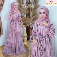 Baju Gamis Wanita Muslim Perempuan Dewasa Terbaru Zig Zag Maxi Ceruti