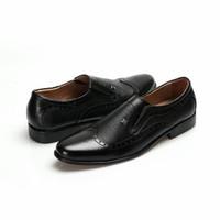 Sepatu Bally Slip On Import Quality Pantofel Pria Kulit Asli Murah - Hitam, 38