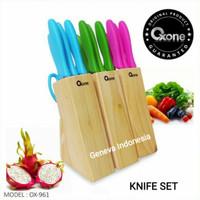 OXONE Pisau Set Warna - Knife Set Colour 7 Pcs OX-961 Orisinil 100%