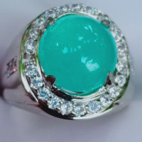 Natural Batu Permata Bluish Green Chrysocolla Chalsedony Aka Bacan Kri