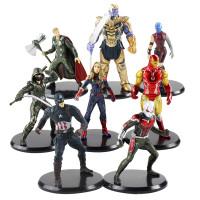 Action Figure Avengers Endgame Set 8 / Cake Topper Avengers