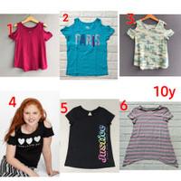 Baju kaos pendek anak perempuan cewe brand original Justice 10 tahun