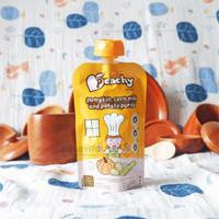 Peachy Pumpkin Corn Milk and Potato Puree 6m+