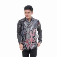 baju kemeja batik pria semi sutra lengan panjang Artha45