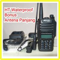 HT SCOM WP 66 WATERPROOF DUAL BAND VHF UHF BONUS ANTENA PANJANG