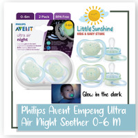 Philips Avent Empeng Ultra Air Night Soother 0-6 M isi 2 pcs