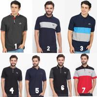 Baju Kaos t shirt Polo Kerah Distro Polos Jumbo Original Pria - FFC 26