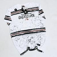 SF35 baju Kaos Distro quiksilver surfing fullprint premium ukuran L XL