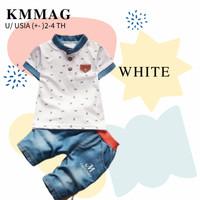 setelan stelan baju pakaian kaos anak bayi baby laki laki 2 3 4 tahun