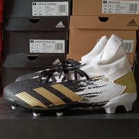Adidas Predator 20.3 FG White/Gold/Black Sepatu Bola