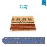 Refill Isi ulang karet tubeless tubles anti bocor ban cacing karet