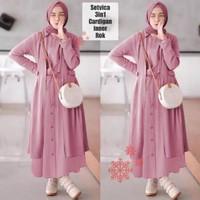 Gamis 3in1 Setelan Baju Gamis Muslim Wanita Vica 3 in 1