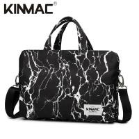 KINMAC BLACK MARBLE Tas Laptop Messenger Selempang 13 14 15 15.6 Inch