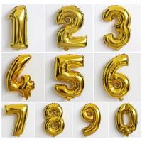 Balon Foil Huruf dan Angka Satuan Ukuran Besar Untuk Pesta