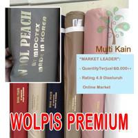 bahan kain wolpis wolfis woolpis woolfis wolvis premium gamis fashion - 4101 navy
