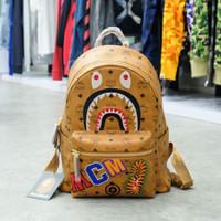 M C M x Bape Tiger Patch Backpack 100% Authentic
