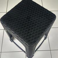 Kursi Plastik Motif Rotan/Kursi Tanggung Rotan/Bangku plastik Rotan