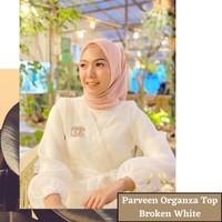 Parveen organza top broken white