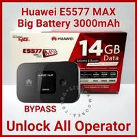 MiFi Modem WiFi Router 4G Huawei E5577 MAX UNLOCK GSM - FREE TSEL 14GB