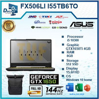 Asus TUF FX506LI I55TB6T-O i5 10300 8GB 512ssd GTX1650Ti 4GB W10+OHS